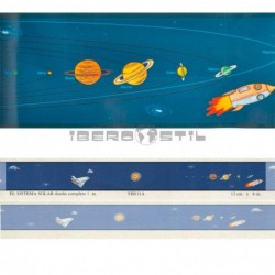 Cenefa adhesiva Cenefas Infantil El Sistema Solar