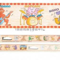 Cenefa adhesiva Cenefas Infantil Los Instrumentos
