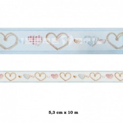 Cenefa adhesiva con estampado Cenefa Cenefas Infantil rosa dibujo corazones