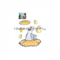 Cenefa adhesiva Cenefas Infantil El huevo y la Gallina
