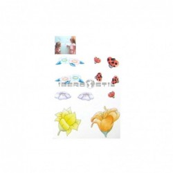 Cenefa adhesiva Cenefas Infantil Flores y Mariquitas