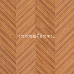 revestimientos de paredes  de Wood Venier teak de iberostil