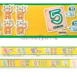 Cenefa adhesiva Cenefas Infantil Los Numeros
