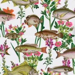 papel pintado  Tirana de estampado botánico estilo Country