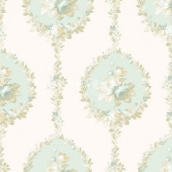papel pintado vintage aral de la colección vintage fashion home estampado floral
