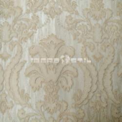 papel pintado vintage granate almandino de la colección classic moments de textura de damasco