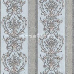 papel pintado vintage granate rodolita de la colección classic moments de damasco y rayas