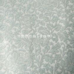 papel pintado vintage zircón de la colección classic moments de estampado floral y metálico