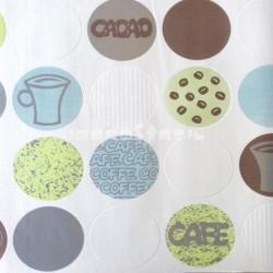 papel pintado barato papel cocina café cacao de la colección efectos 1 de nuestro papel pintado