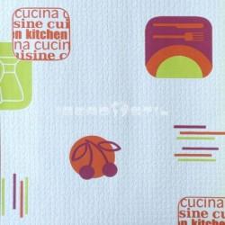 """papel pintado barato papel cocina """"blanave"""" blanco naranja y verde 6657-06 de la colección efectos 1 de nuestro papel pintado"""