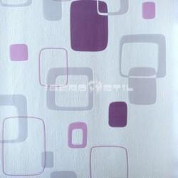 papel pintado barato papel retro morado y blanco 6657-06 de la colección efectos 1 de nuestro papel pintado