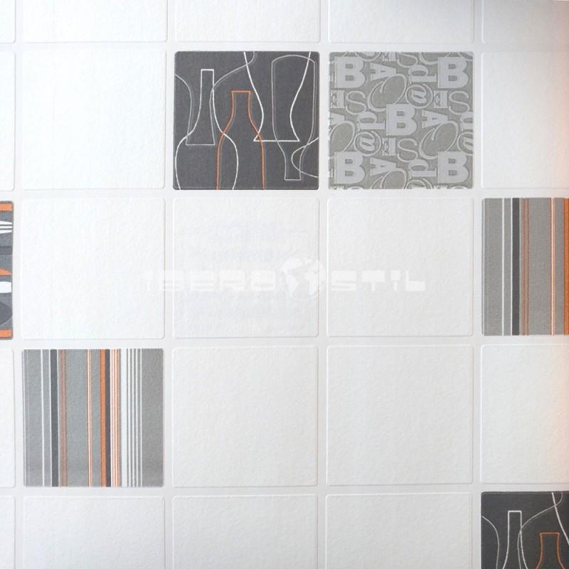 papel pintado barato papel azulejo cocina baño blanco y negro 6701-10 de la colección efectos 1 de nuestro papel pintado