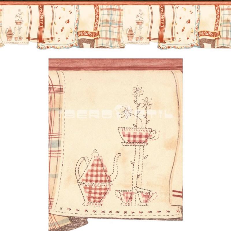 papel pintado barato  camerún de la colección village cenefa troquelada de nuestro outlet