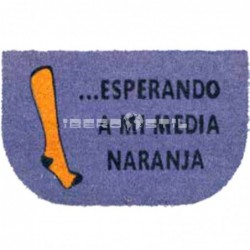 compra online Felpudo Media Naranja 40x70