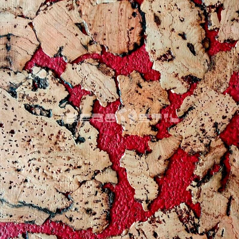 Corcho Mural Rojo Tibi Zamora