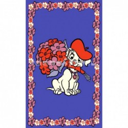 Alfombra Disney Dálmata con flores 0.6x1 Azul con SOPORTE ANTIDESLIZANTE