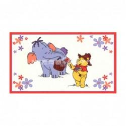 Alfombra Disney Elefante y Winnie Pooh0.6x1 Blanco con SOPORTE ANTIDESLIZANTE