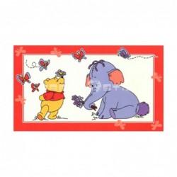 Alfombra Disney Elefante y Winnie 0.6x1 Blanco con SOPORTE ANTIDESLIZANTE