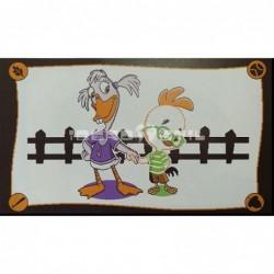 Alfombra Disney Chicken Little y Gansa Sosa 0.6x1 Blanco con SOPORTE ANTIDESLIZANTE