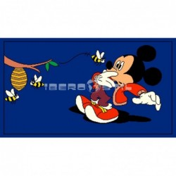 Alfombra Disney Mickey Mouse  0.6x1 Azul con SOPORTE ANTIDESLIZANTE