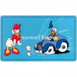 Alfombra Disney Donald y Daisy 0.6x1 Azul con SOPORTE ANTIDESLIZANTE