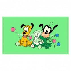 Alfombra Disney Pluto y Goofy pequeños 0.6x1 Verde con SOPORTE ANTIDESLIZANTE