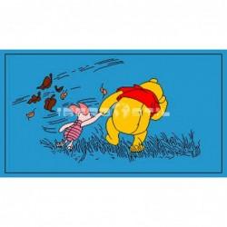 Alfombra Disney Winnie y Piglet 0.6x1 Azul con SOPORTE ANTIDESLIZANTE