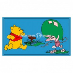 Alfombra Disney Winnie y Piglet jugando 0.6x1 Azul con SOPORTE ANTIDESLIZANTE