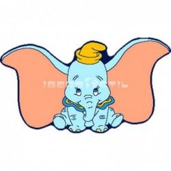 Alf Dumbo Troquelada Rosa con SOPORTE ANTIDESLIZANTE