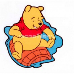 Alfombra Winnie Pooh Troquelada Amarillo con SOPORTE ANTIDESLIZANTE
