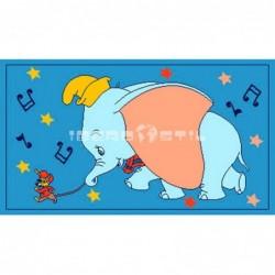 Alfombra Disney Dumbo 0.6x1 Azul con SOPORTE ANTIDESLIZANTE