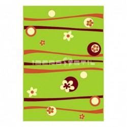 Alfombra Florina Alpo  Verde con Suelta o con Red Antideslizante
