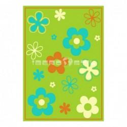 Alfombra Florina Anquises  Verde con Suelta o con Red Antideslizante