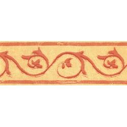 Cenefa no adhesiva con estampado Circo amarillo y naranja