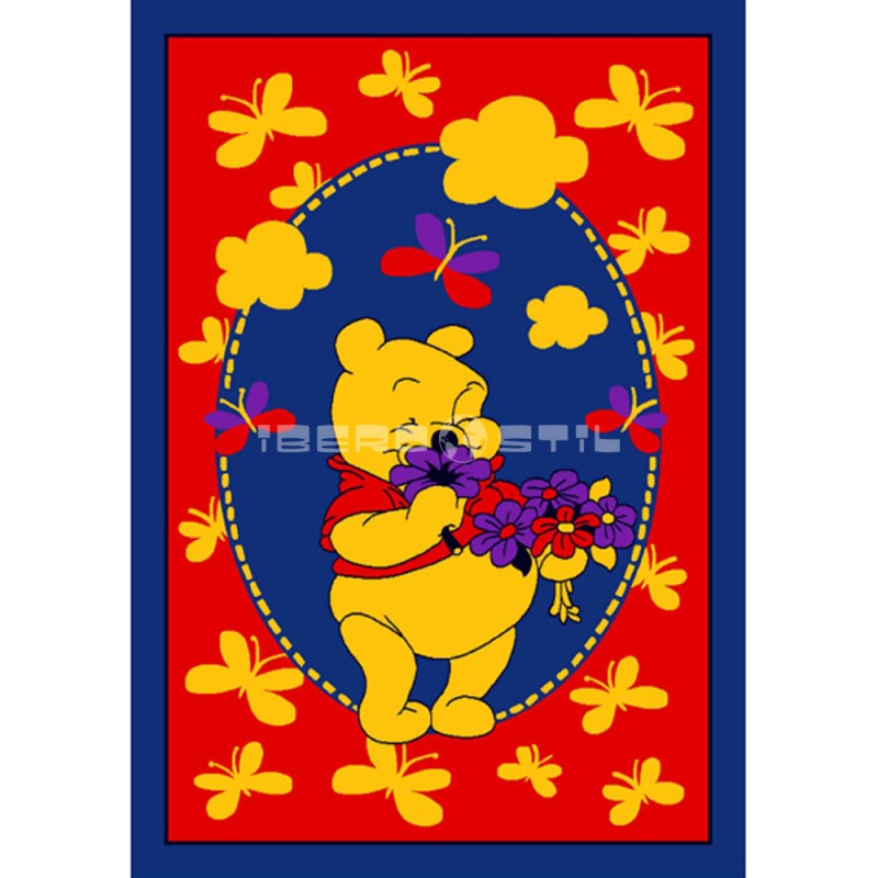 Alfombra Winnie the Pooh 140x2 Naranja con SOPORTE ANTIDESLIZANTE