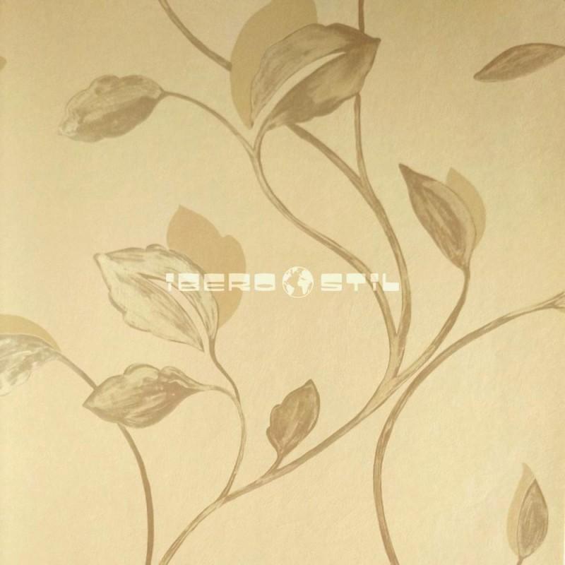 Papel pintado floral 1523 de la colección Oro y Argento novedad de papel pintado de iberostil.
