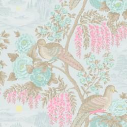 98173 Sekiya duck egg Bloomsbury Papel Pintado Estampado animal y floral
