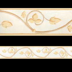 Cenefa semi-adhesiva con estampado floral en tonos beige