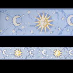 Moon Cenefa SEMI-ADHESIVA sol y luna en tonos azules
