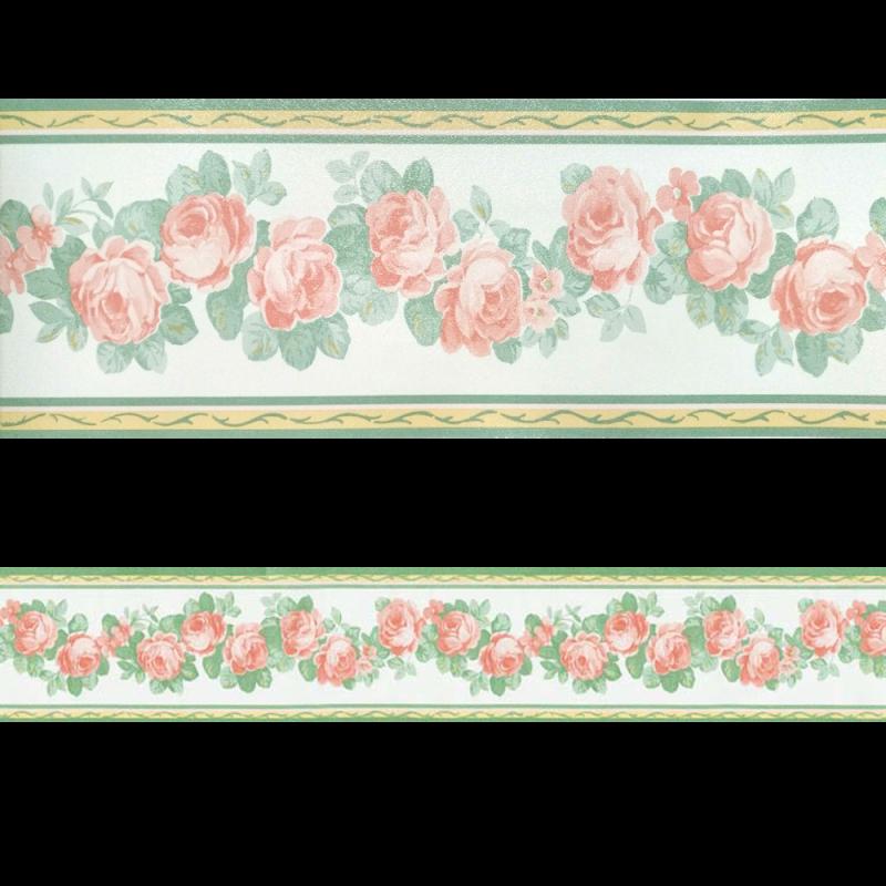 Nieve 8.8 cm Cenefa SEMI-ADHESIVA en tonos blancos y rosas