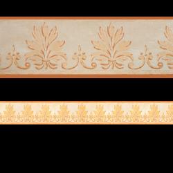 Flor de Lis 6.6 cm Cenefa SEMI-ADHESIVA en tono naranja