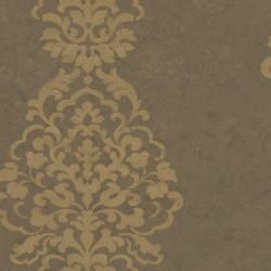 Papel pintado adamascado 161218 de la colección ATTIMI novedad de papel pintado de iberostil
