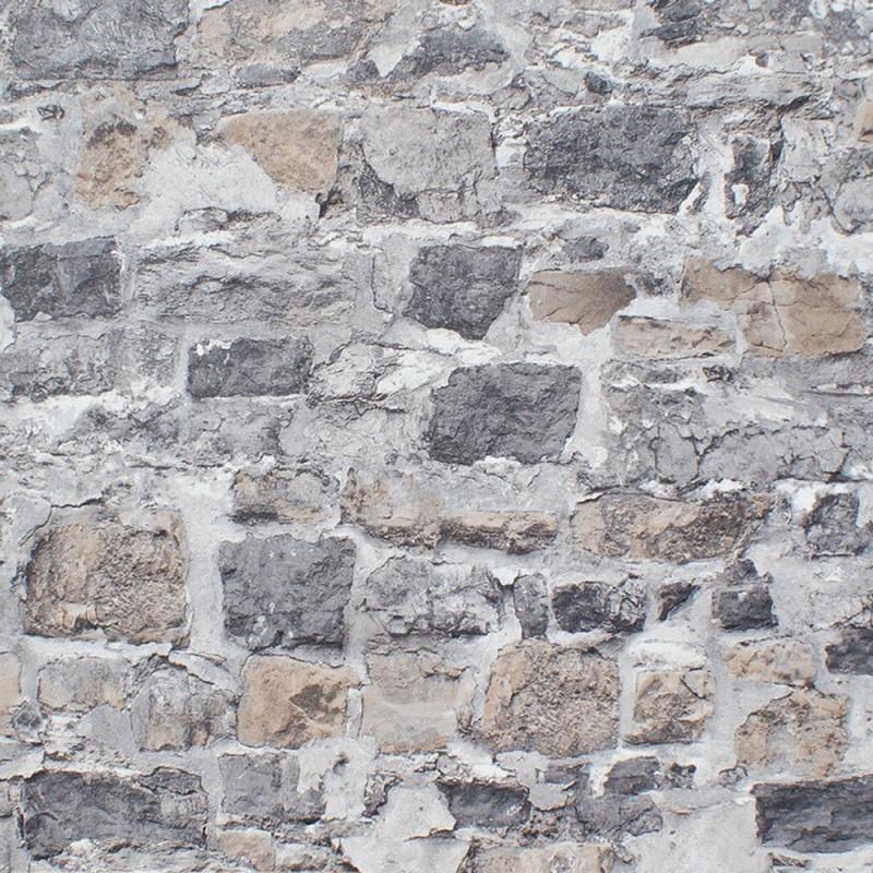 Papel pintado de piedra modelo 41009210 de la coleccion Efectos Especiales en oferta en Iberostil